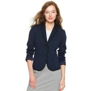 Gap The Academy Navy with Black Trim Blazer